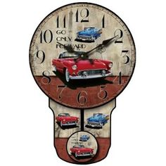 """Classic Car avec Pendulum 15 3/4 """"High Wall Clock"""