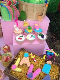 Hawain cupcakes