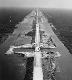 Alligator Alley, under construction in 1965. Until it was built Fort Lauderdale residents had no direct route to the Gulf Coast, constructed from Ft. Laud. to Naples directly across the Everglades