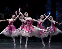 Artists of Birmingham Royal Ballet as Flowers in The Nutcracker. Photo: Emma Kauldhar