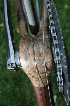 As much a work of art as a bicycle Bamboo Bicycle, Wooden Bicycle, Wood Bike, Bamboo House, Bike Trailer, Bike Frame, Bike Parts, Bike Design, Made Of Wood