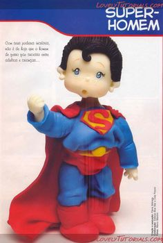 Polymer Clay People, Polymer Clay Dolls, Polymer Clay Projects, Fondant People, Biscuit, Superman Cakes, Cake Decorating Tutorials, Decorating Ideas, Decorating Cakes