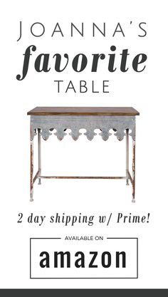 I've been looking for this table everywhere! I didn't want to wait 3 weeks, but… Magnolia Farms, Magnolia Homes, Fixer Upper Tv Show, Magnolia Fixer Upper, Fixer Upper Decor, Furniture Decor, Bella Furniture, Do It Yourself Home, Farmhouse Chic