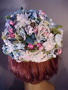 Pink and Blue Vintage Millinery