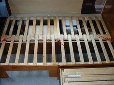 Diy Sofa, Rv Sofa Bed, Daybed, Camper Beds, Diy Camper, Camper Van, Fold Out Beds, Folding Beds, Sofa Bed Design