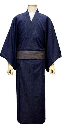 Men's Kimono made of Denim - wash until it's as comfy as your favorite pair of jeans - genius!