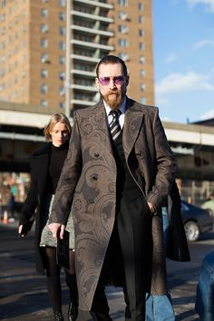 Photographed by The Sartorialist in New York. Love the coat!