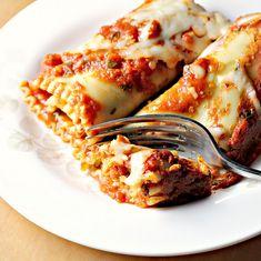 Sweet Potato Spinach Pesto Lasagna rolls. (includes ricotta and mozz)  Sweet potato  Pesto  And Spinach?   Um, hello? SO have to try!