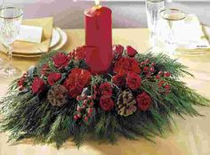Image Detail for - need inexpensive and unique Christmas Wedding centerpiece ideas!