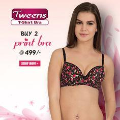 #Feel Teasy! Buy 2 #Tweens Print #Bra @ 499/- #free-shipping , COD, 15 days return @www.bellelingeries.com Affordable Lingerie, Buy Bra, Belle Lingerie, T Shirt Bra, Tween, Cod, Free Shipping, Bikinis, Stuff To Buy