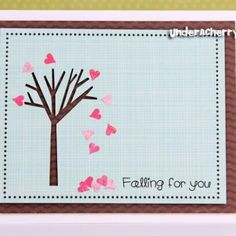 I'm falling for you V-Day card.