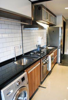 cozinha integrada com area servico (london tiles)