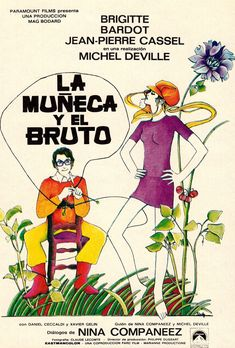 BRIGITTE BARDOT 'The BEAR AND THE DOLL' 1970 (LA MUNECA Y EL BRUTO) Original vintage Spanish movie Herald flyer from my collection (follow minkshmink on pinterest) See also my Brigitte Bardot board.