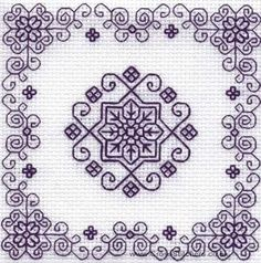 The Patio - Holbein Embroideries Blackwork Kit