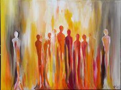 Malerei & Collagen - Menschen II... 80cm x 60cm - ein Designerstück von carts bei DaWanda
