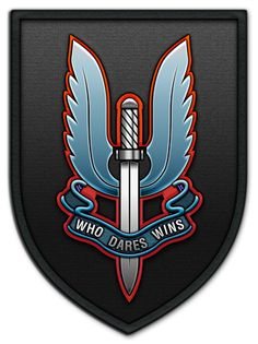 Insignia of Special Air Service (SAS) — badge on right arm Military Insignia, Military Police, Military Art, Military History, Military Gifts, Sas Special Forces, Indian Army Special Forces, Special Air Service, Special Ops
