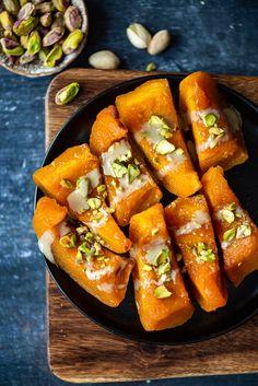 Turkish Pumpkin Dessert With Tahini - Give Recipe Pumpkin Dessert, Tahini, Kinds Of Desserts, 3 Ingredients, Ethnic Recipes, Food, Meals, Yemek, Eten