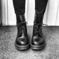 Black Doc Marten boots #DocMartens