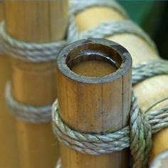Knotted bamboo poles