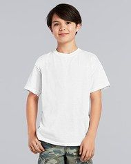 White - Gildan 5000B Youth Shirt | T-shirt.ca Boy Models, Youth, Mens Tops, T Shirt, Fashion, Boy Child Models, Moda, Tee, Young Man