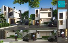 Exterior Architecture Scene [Villas] No.1 rendered in KeyShot by Boyd MeeJi.