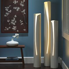 love these lights made from plumbing pvc pipes