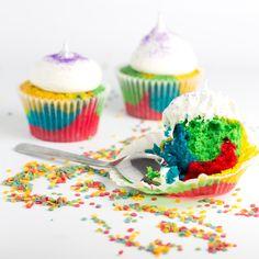 Cómo hacer Cupcakes Arcoiris