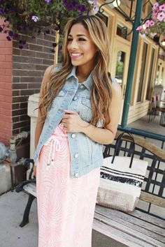 Perfect Summer Layers with Denim » mychicbump #maternity #fashion #denimvest