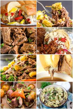 Easy chuck roast crockpot recipes are the best way to cook a chuck roast. Do you find yourself wondering what to do with chuck roast? Make one tonight! #ChuckRoast #Crockpot #SlowCooker Fast Easy Meals, Fun Easy Recipes, Easy Weeknight Meals, Delicious Recipes, Pot Roast Recipes, Slow Cooker Recipes, Crockpot Recipes, Pork Recipes, Slow Cooker Italian Beef