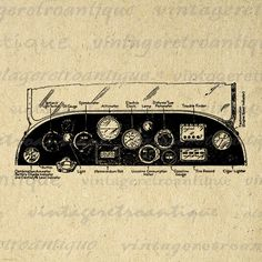 Printable Image Car Dashboard Automobile by VintageRetroAntique
