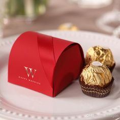 Elegant Red Small Gift Boxes Paper Red Favor Holders | Buy Wholesale On Line Direct from China