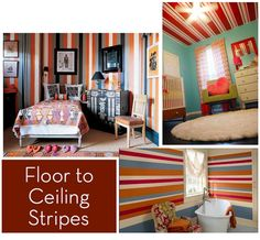 Striped walls and ceilings
