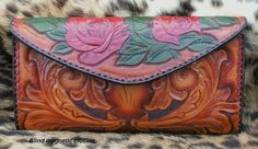 Tooled leather clutch by AcrossLeather on Etsy, $399.00