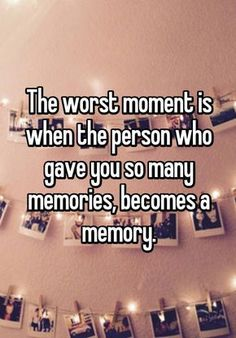 """Friendship Quotes : """"The worst moment is when the person who gave you so many memories, becomes a me… Quotes Deep Feelings, Hurt Quotes, Mood Quotes, Funny Quotes, Life Quotes, Quotes Quotes, Sadness Quotes, Qoutes, Meaningful Quotes"""