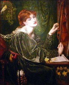 Veronica Veronese, 1872, Dante Gabriel Rossetti Size: 89x109 cm Medium: oil, canvas