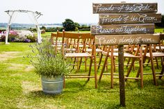 Rustic Wood Signs Calligraphy Bohemian Homemade Outdoor Cornwall Stripe Marquee Wedding http://www.alexapoppeweddingphotography.com/