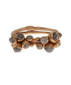 Gold Double Cluster Diamond Ring - Ruth Tomlinson $3900