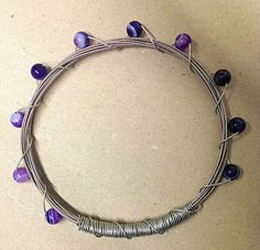 Purple Agate Guitar String Bracelet Guitar String Bracelet, String Bracelets, Purple Agate, Belly Button Rings, Unique Jewelry, Design, Rope Bracelets, Belly Rings