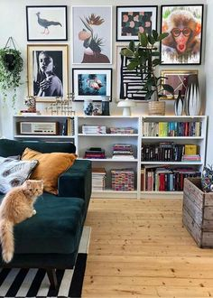 Eclectic Living Room, My Living Room, Small Living, Living Room Designs, Living Room Decor, Dining Room, Modern Living, Billy Ikea, Room Interior