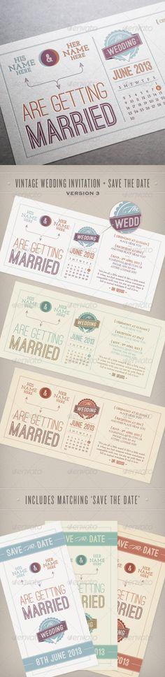Vintage Wedding Invitation & Save the Date - Weddings Cards & Invites