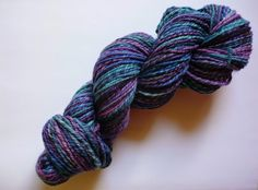 malabrigo Nube in Whale's Road colorway. 4-ply. Review.