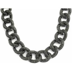 Bling Jewelry Too Chunky Chain ($60) ❤ liked on Polyvore featuring jewelry, necklaces, black, chain-necklaces, necklaces pendants, chunky jewelry, chunky curb chain necklace, statement necklace, chains jewelry and curb chain necklace