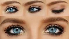 -black pencil -dark brown eyeshadow (I used nyx) -something bright like this gold shadow