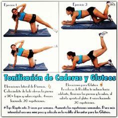 Ejercicios para tonificar piernas y glúteos