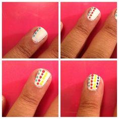 Cute summer nail art design by Carla Allen