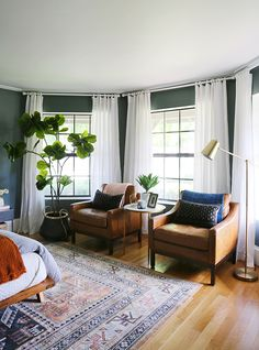 home decor bedroom Green Bedroom Reveal - Little Green Notebook Bedroom Green, Home Bedroom, Green Bedrooms, Green Bedroom Curtains, Green Bedroom Design, Funky Bedroom, Grey Bedroom With Pop Of Color, Bedroom Wall Designs, Modern Bedrooms
