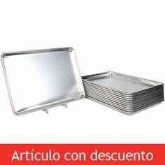 Costco Mexico - Restaurant Essentials, set de charolas de aluminio, 12 piezas, 45cm x 66cm alto x $997