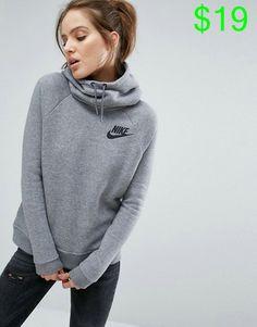 Nike | Nike Pullover Hoodie In Grey With Small Futura Logo