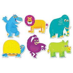 Jingle Jungle Animals Accents, Assorted Shapes And Colors, 36/pack