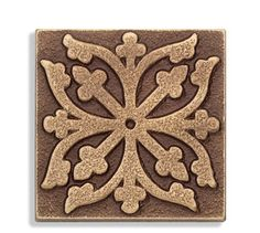Medieval Cross Design Tile This 2 Hand Cast Solid Bronze Accent Medieval Pattern, Medieval Art, Tile Design, Pattern Design, Stencil, Leather Tooling, Leather Pouch, Cross Designs, Sculpture Clay